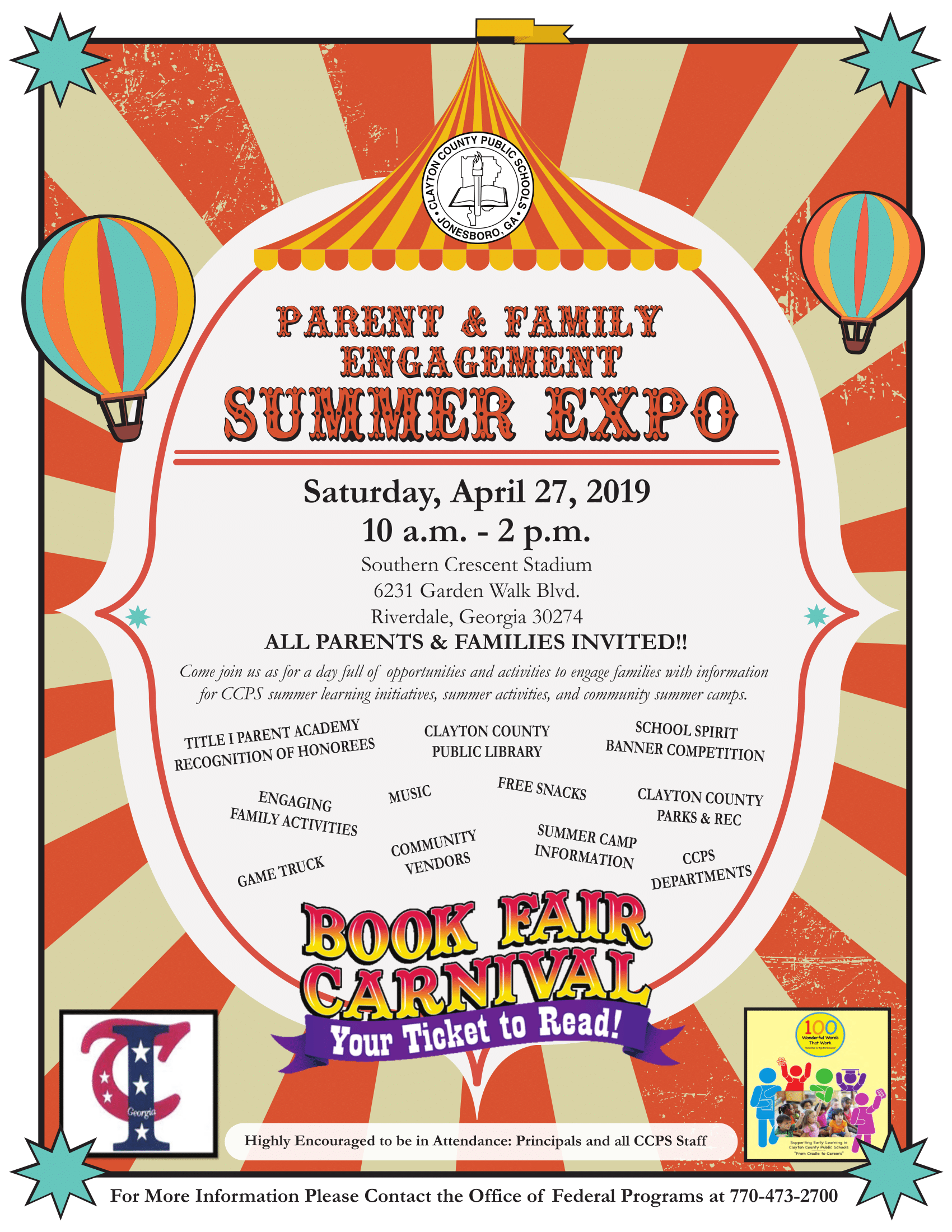 2019 Parent Expo Flyer
